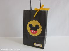 8 Mickey Favor Bags, Favor Bags, Birthday Party, Mickey Party, Disney Party, Mickey Mouse, Minnie Mouse. $10.80, via Etsy.