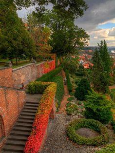 giardini castello Praga autunno