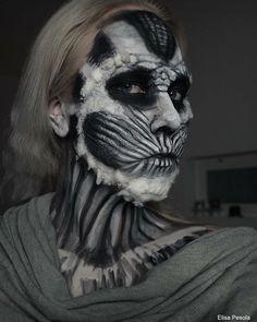 Throwback thursday 🙆🏼 #tbt #whitewalker #whitewalkermakeup #halloweenmakeup #halloweenmakeupideas #facepaint #bodypaint #got #meikki #maskeeraus #halloween #muatalent #amazingmakeupart #dupemag #blendwithtrend #discover #makeupartistsworldwide #makeup #mufe #grimas #kryolan #bennye