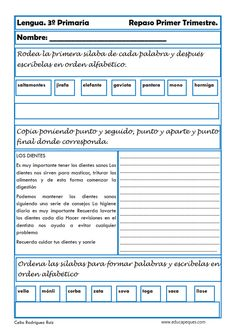25 Ideas De Ejercicio Español 3 Lectura De Tercer Grado Lectura De Tercero Actividades Para Clase De Español