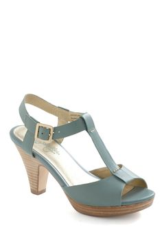This pretty leather platform by Seychelles is just the sophisticated style, frosted with the right amount of trendiness, that you've been waiting for! With its simple-yet-stylish T-strap shape featuring a playful peep toe and stacked heel, this sea-green stepper is sleek, chic, and still completely unique!$99.99