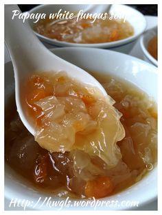 Snow Fungus Papaya Sweet Soup (木瓜银耳炖冰糖) #guaishushu #kenneth_goh      #snow_fungus_sweet_soup  #木瓜银耳炖冰糖