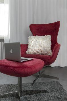 Luxury white pillow, www. White Pillows, Designer Pillow, Egg Chair, Lounge, Interior Design, Luxury, Unique, Furniture, Home Decor