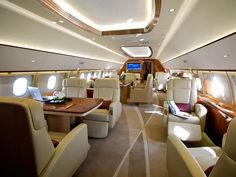 Most Luxurious Private Jets in the World Jets Privés De Luxe, Luxury Jets, Luxury Private Jets, Private Plane, Luxury Yachts, Private Yacht, Interior Design Courses, Best Interior Design, Design Blogs