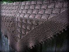 Knitting Patterns Ravelry Ravelry: The Lonely Tree Shawl pattern by Sylvia Bo Bilvia Knit Shrug, Knitted Shawls, Crochet Shawl, Knit Crochet, Lace Shawls, Sweater Knitting Patterns, Lace Knitting, Crochet Patterns, Knitting Scarves