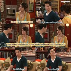 "Disney Channel Wizards of Waverly Place. WOWP. Alex Russo, Justin Russo. Selena Gomez and David Henrie. ""You got a job?"""