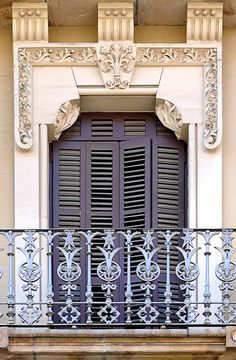 Window and Shutters, Catalonian Modernisme, Muntaner 031 a Barcelona - Spain by Arnim Schultz on Flirck Entrance, Beautiful Architecture, Windows And Doors, Through The Window, Beautiful Windows, Beautiful Doors, Ornate, Doors, Shutters