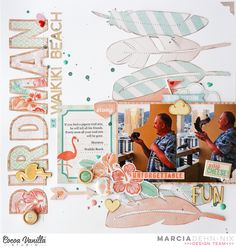 Birdman of Waikiki Beach - scrapbook layout created with the Cocoa Vanilla Studios Endless Summer collection and digital cut files from JustNick Studios. Beach Scrapbook Layouts, My Scrapbook, Scrapbooking Layouts, Image Layout, Waikiki Beach, Silhouette America, Star Designs, Summer Collection, Cocoa