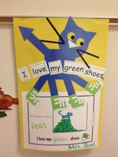 pete the cat birthday party | Here's a sample of a project we made for Pete the Cat I Love my White ...
