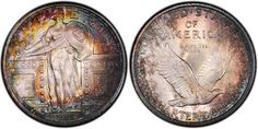 1917-D Standing Liberty quarter with some pretty epic toning.