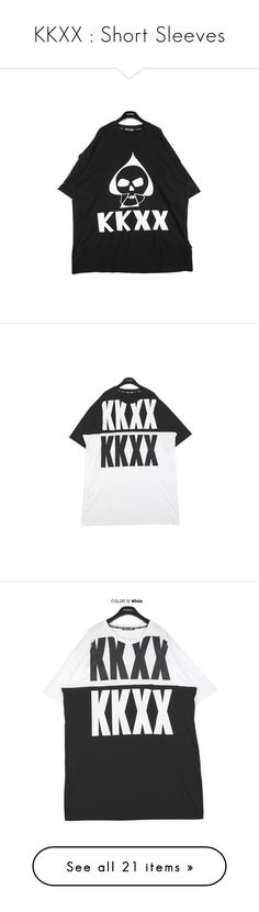 """""""KKXX : Short Sleeves"""" by kkomppul ❤ liked on Polyvore featuring tops, t-shirts, over sized t shirt, oversized tee, oversized tops, oversized t shirt, dresses, white day dress, oversized white dress and white dress"""
