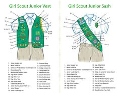 Which patches and insignia goes where on a gs junior scouts vest girl scout junior vest badge placement troop 10 juniors september 2010 solutioingenieria Choice Image
