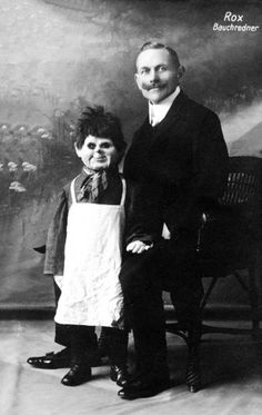 Creepy vintage portraits of vaudeville ventriloquists and their dummies    It doesn't get any weirder than this.