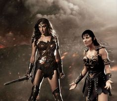 Xena's reaction to Wonder Woman's new suit
