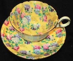 Shelley Summer Glory Chintz Chester Tea Cup and Saucer Peach | eBay