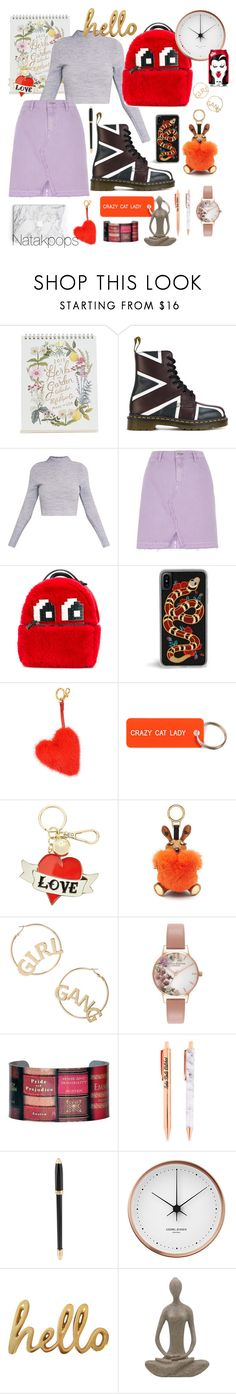 """""""Love ❤️ the teenager look"""" by natakpops21 on Polyvore featuring moda, Rifle Paper Co, Dr. Martens, River Island, Les Petits Joueurs, Anya Hindmarch, Various Projects, Sandro, MCM y BP."""