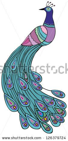 stock vector : peacock