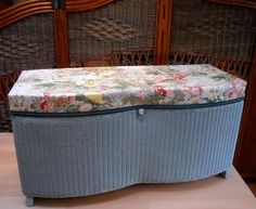 Lloyd Loom Ottoman for a Vintage - refurbished - LOCAL PICK UP ONLY