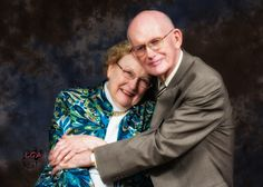 """""""Hug her up!""""  Celebrating 55 years of marriage.  I love their expressions in this shot. :)"""