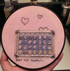 Don't Kid Yourself... Embroidered Hoop Wall by StitchesOnTheRadio, $15.00