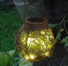 Rustic Outdoor Firefly Lantern Woodland Garden Wedding by BriannaPaigeDesigns
