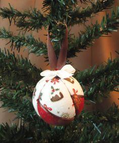 6 Handmade Christmas tree baubles set of 6 by SplendidIdeas