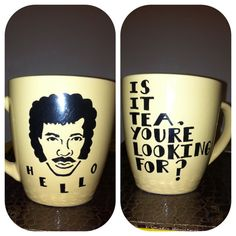 GREEN Lionel Richie Coffee Mug by TessaPopArt on Etsy
