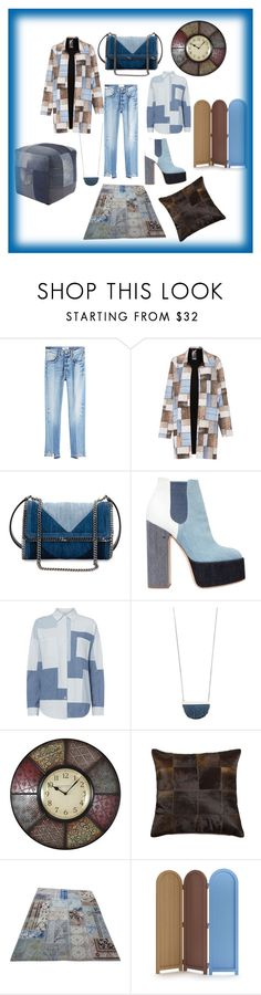 """Patchwork is Fun!"" by ipekzsuel on Polyvore featuring Frame, Norma Kamali, STELLA McCARTNEY, Laurence Dacade, NSF, Madewell, Moooi and Signature Design by Ashley"