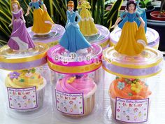 Colourful cupcake with flowers and Princess toys for goodybag 2   Flickr - Photo Sharing!