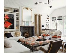 A warm and welcoming living room, designed by Windsor Smith.