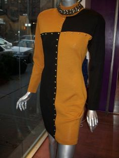 Vintage color block dress.