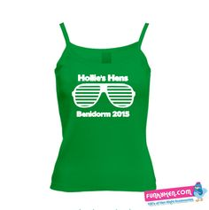 Hens Night, T Shirt Vest, Retro Sunglasses, Retro Style, Vests, Retro Fashion, Athletic Tank Tops, Printing, Party