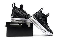 sale retailer 498df 2f813 2018 Nike Lebron 15 Mens Basketball Shoes Ashes Black Grey White New Nike  Air, Cheap