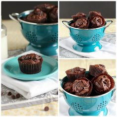 Nutella Swirl Pumpkin Chocolate Muffins- don't need to bake it for that long