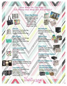 Perfect Thirty One products for new moms! Think about these ideas for upcoming baby showers. Thirty One Baby, Thirty One Uses, Thirty One Gifts, Organizing Utility Tote, Tote Organization, 31 Gifts, Gifts For Mom, Baby Gifts, Retro Metro Bag