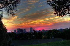 Salt Lake City's vast valley and mountainous backdrop make for some impressive sunsets.