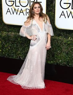 Drew Barrymore at the 74th Annual Golden Globe Awards