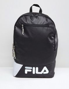 a3d9e819ab7 Shop Fila Barbe Backpack In Black at ASOS.