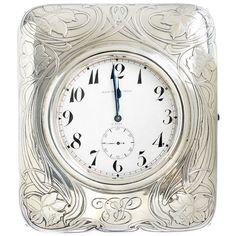 Art Nouveau Black Starr & Frost Sterling 8-Day Clock, c1900-1905