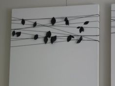 no paint artwork in 15 minutes |  http://jesslively.com/no-paint-artwork-in-15-minutes/#  I love the idea but it would be so much better painted with birds on a wire.