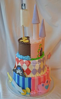 Pirate and Princess  Cake by susieqhomemaker