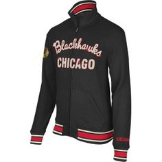 Chicago Blackhawks Retro Fleece Track Jacket by Reebok