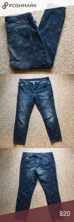 Rock & Republic Plus Size Star Printed Jeans Great condition Rock & Republic star printed jeans.  34W x 26L Rock & Republic Jeans Skinny