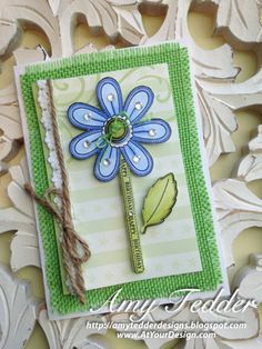 Stitched Flowers Vintage Tags Clear Stamps