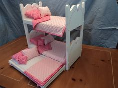 Doll Bunk bed and Trundle for American Girl Dolls or by btcrafts, $138.98