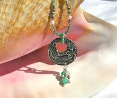Mermaid Necklace Beaded Charm Necklace by Sparklesbythesea on Etsy https://www.etsy.com/listing/458076286/mermaid-necklace-beaded-charm-necklace
