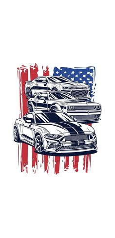 Ford Mustang, Cool Backgrounds Wallpapers, Street Racing Cars, Car Illustration, Best Luxury Cars, Chevy, Car Drawings, Automotive Art, Art Logo