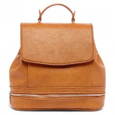 Cognac Flapover Backpack | Archer | Free Shipping on Orders $50+