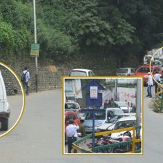 While going towards Chotta Shimla in local bus, I witnessed two policemen passing by a Gypsy idly..