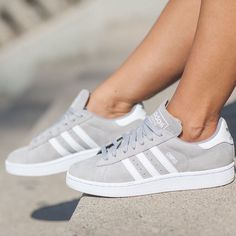 Adidas Women Shoes - I saw these ones and I know that it are adidas campus shoes but I can only find… ,Adidas Shoes Online, - We reveal the news in sneakers for spring summer 2017 Adidas Campus Shoes, Adidas Shoes Women, Nike Women, Gray Adidas Shoes, Adidas Shoes For Kids, Cute Addidas Shoes, Adidas Casual Shoes, Gray Shoes, Pink Shoes